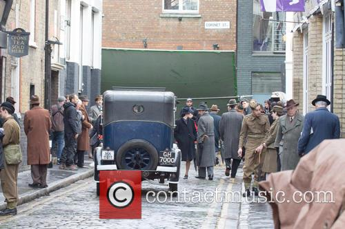 Gemma Arterton filming her new movie 'Their Finest...