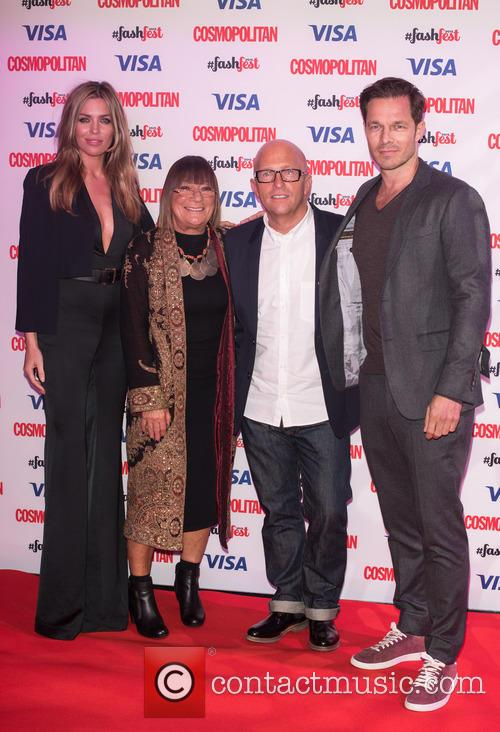 Abbey Clancey. Hillary Alexander, Paul Sculfor and Nicky Johnston 1