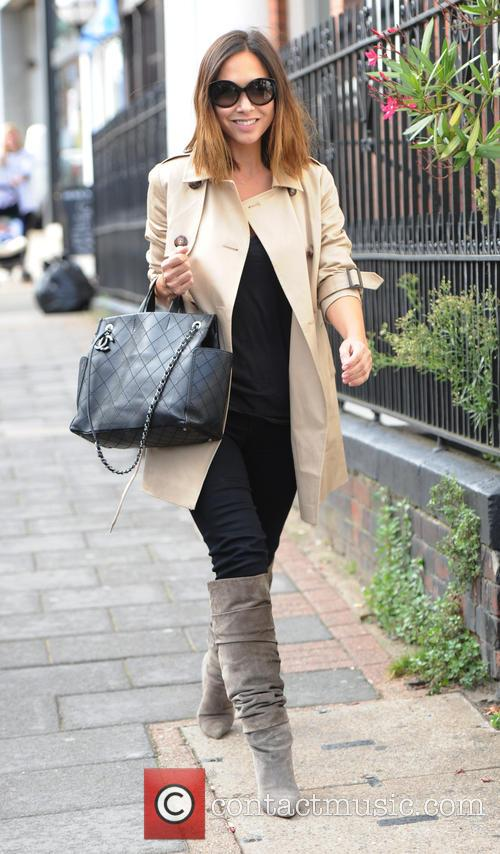 Myleene Klass out and about with her daughters...
