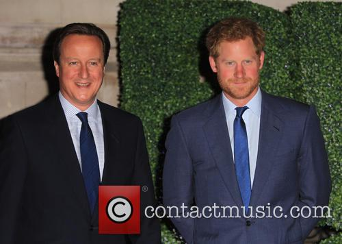 Prince Harry and David Cameron 2