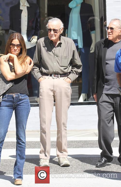 Stan Lee grabs lunch in Beverly Hills