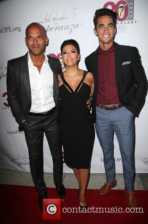 Amaury Nolasco, Eva Longoria and Jose Moreno Brooks 2