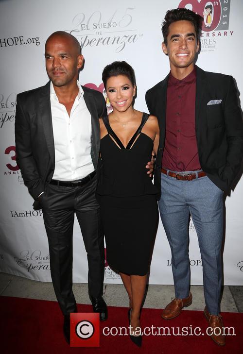 Amaury Nolasco, Eva Longoria and Jose Moreno Brooks 3
