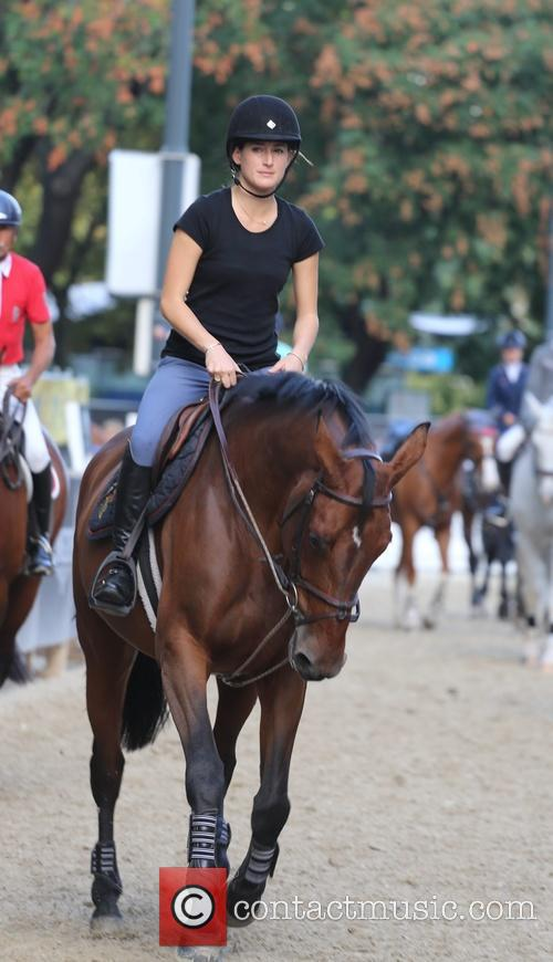 Jessica Springsteen at her first training for the...