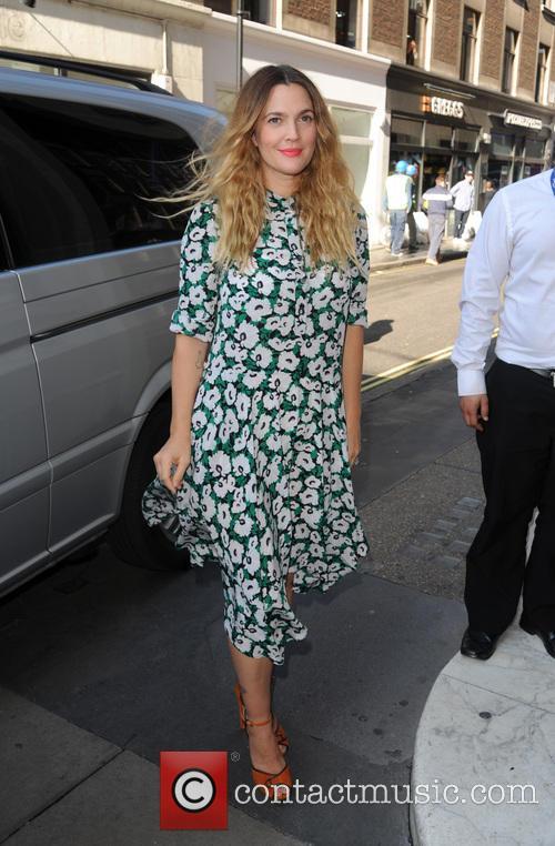 Drew  Barrymore arrives at Kiss FM