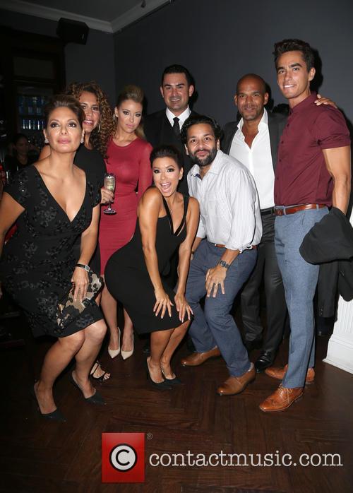 Alex Meneses, Diana Maria Riva, Jadyn Douglas, Eva Longoria, Amaury Nolasco, Jose Moreno Brooks and Izzy Diaz 2