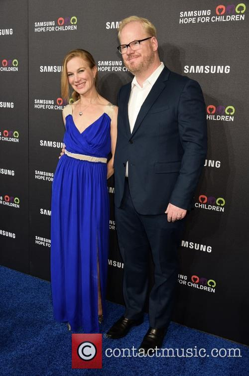 Wife and Jim Gaffigan 1