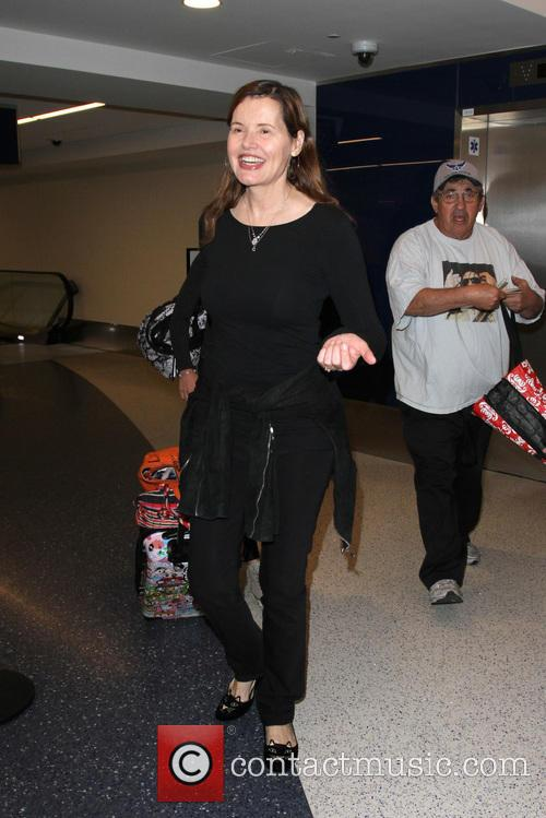 Geena Davis arrives at Los Angeles International Airport...