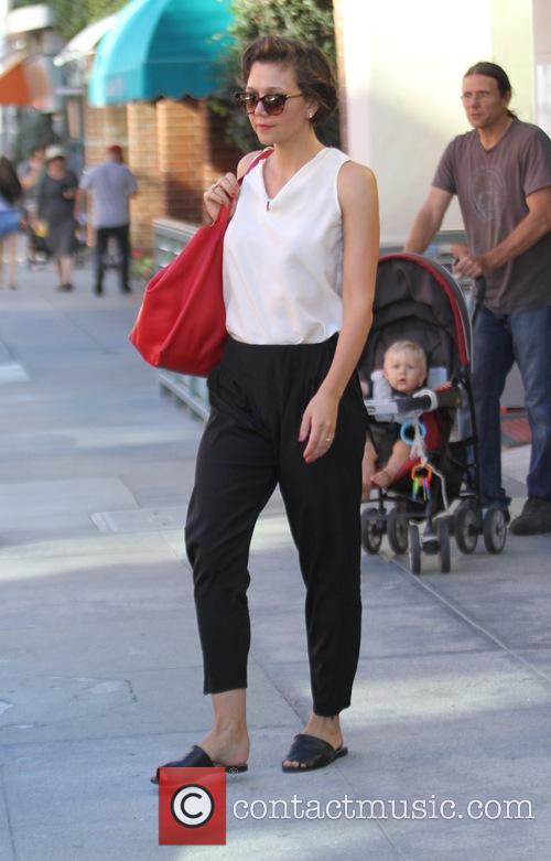Maggie Gyllenhaal spotted on N Bedford Drive in...