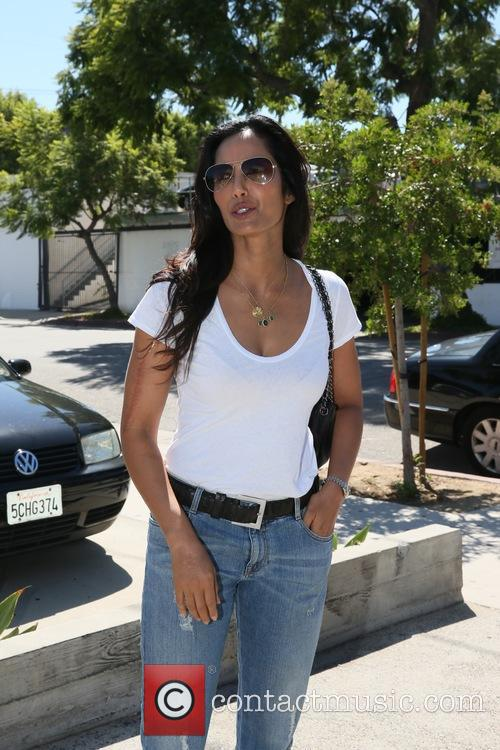 Padma Lakshmi arrives at Andy LeCompte Salon
