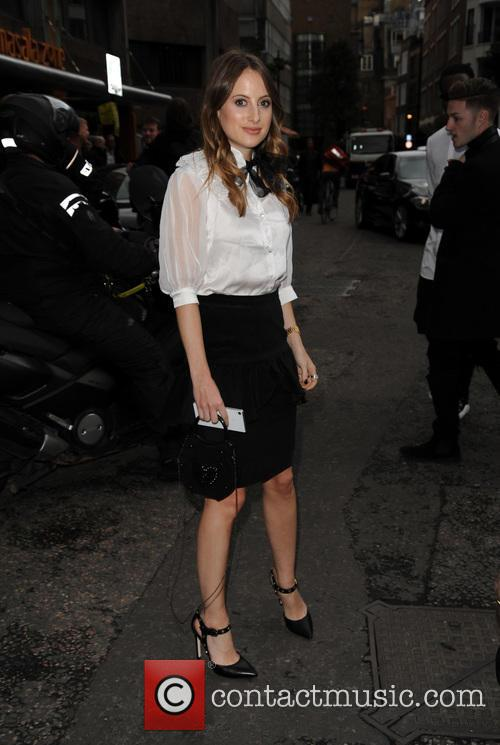 Rosie Fortescue spotted at London Fashion Week
