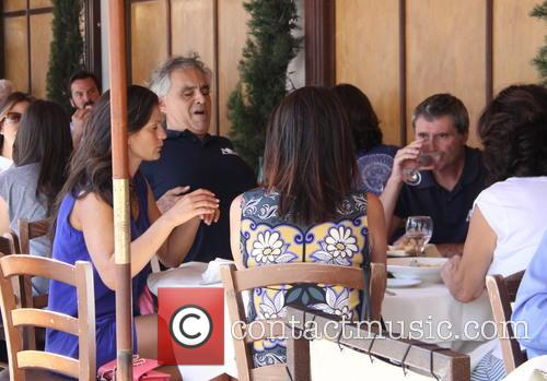 Tenor Andrea Bocelli and his wife Veronica Berti...