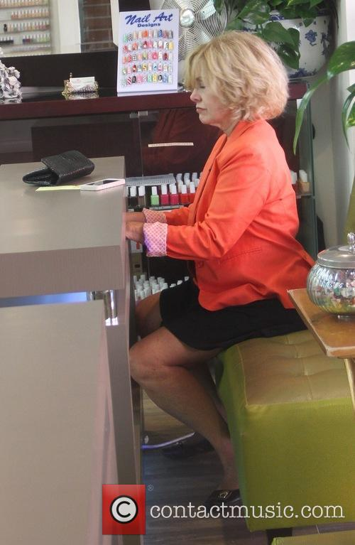 Catherine Hicks gets her nails done in Beverly...