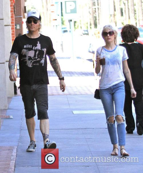 Matt Sorum and his wife Ace Harper out...