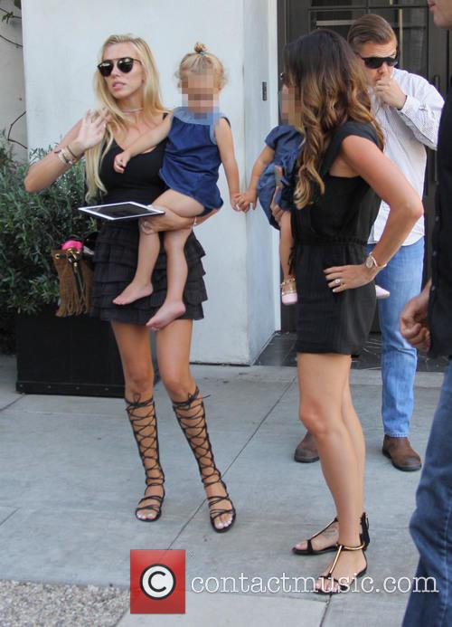Tamara Ecclestone and her sister Petra leaving Spago...