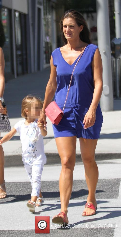 Veronica Berti and her daughter after having lunch...