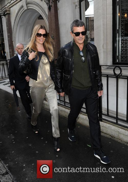 Antonio Banderas and girlfriend Nicole Kimpel