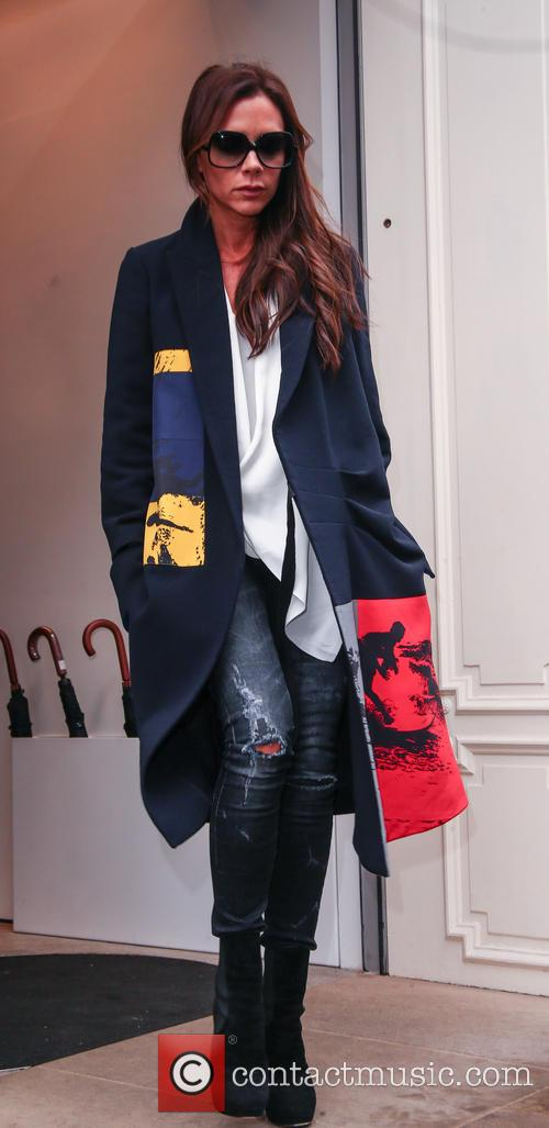 Victoria Beckham leaves her Mayfair store