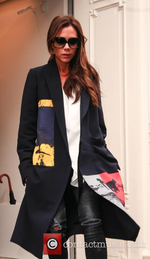 Victoria Beckham leaving her Mayfair store
