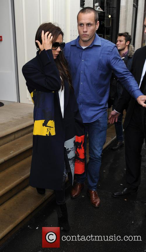 Victoria Beckham leaves her shop in London