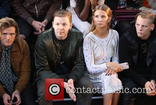 Dougie Poynter, Professor Green and Millie Mackintosh 1