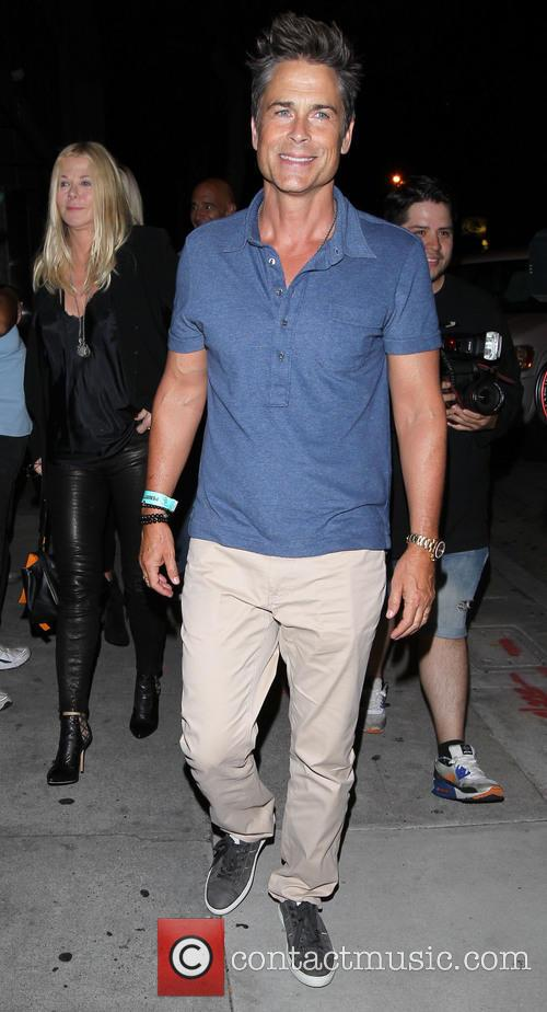 Rob Lowe arrives at Craig's restaurant
