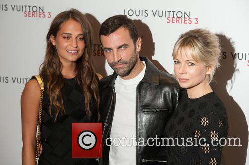 Alicia Vikander, Michelle Williams and Nicolas Ghesquiere 1