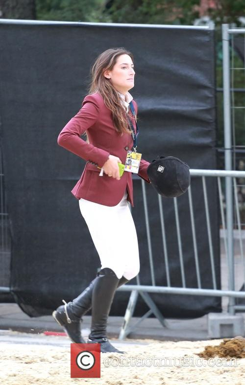 Jessica Springsteen competing in the Longines Global Champions...