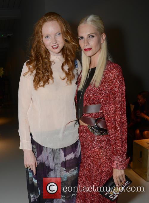 Lily Cole and Poppy Delevingne 1
