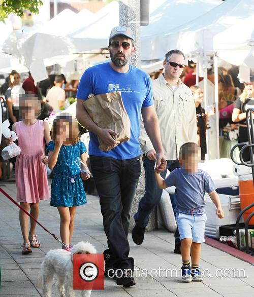 Ben Affleck, Violet Affleck, Seraphina Rose Affleck and Samuel Garner Affleck 2