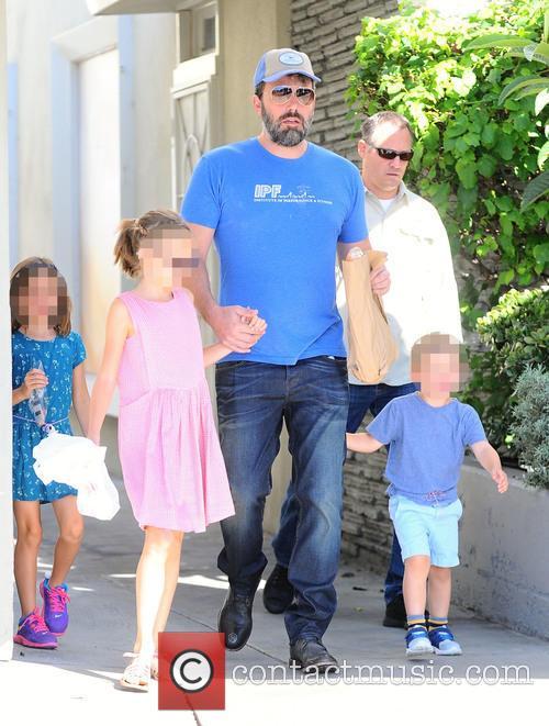 Ben Affleck, Violet Affleck, Seraphina Rose Affleck and Samuel Garner Affleck 1