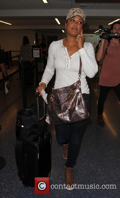 Laila Ali departs from Los Angeles International Airport