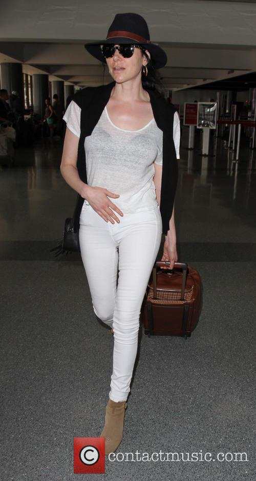 Laura Prepon departs from Los Angeles International Airport