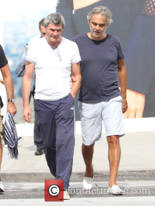 Andrea Bocelli goes out to lunch with his...