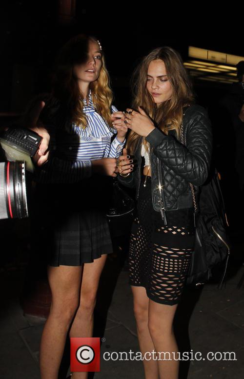 Cara Delevingne and Clara Paget 1