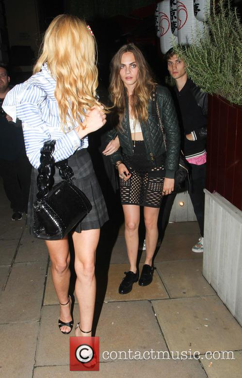 Princess Eugenie, Cara Delevingne and Clara Paget 2