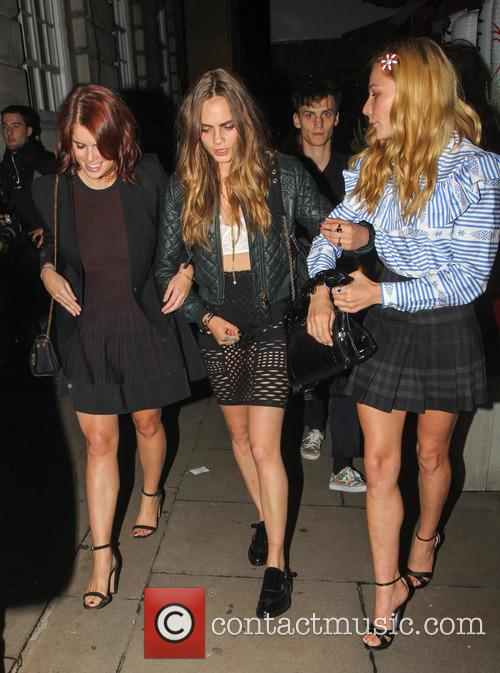 Princess Eugenie, Cara Delevingne and Clara Paget 6