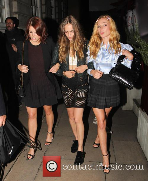 Princess Eugenie, Cara Delevingne and Clara Paget 8