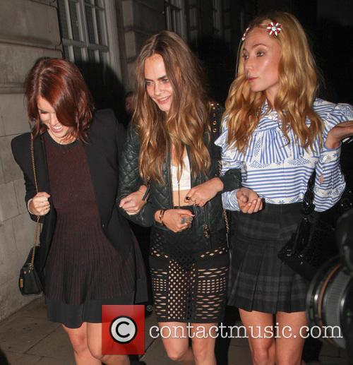 Princess Eugenie, Cara Delevingne and Clara Paget 10