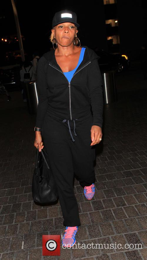 Mary J. Blige departs from Los Angeles International...