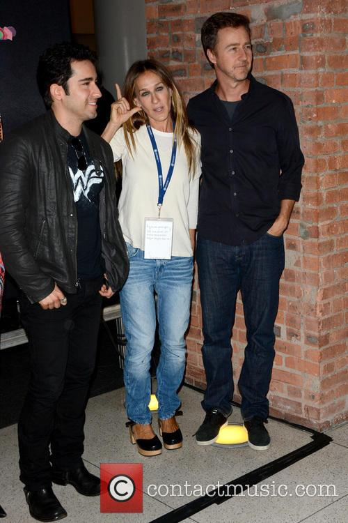 John Lloyd Young, Sarah Jessica Parker and Edward Norton 1