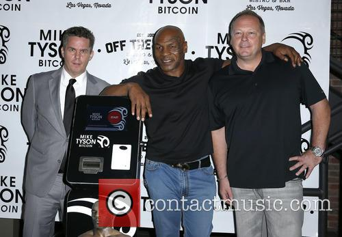 Peter Lkamka, Mike Tyson and Tom Goldsbury 1
