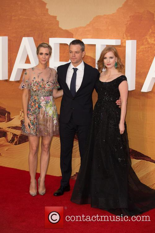 Kristen Wiig, Matt Damon and Jessica Chastain 2