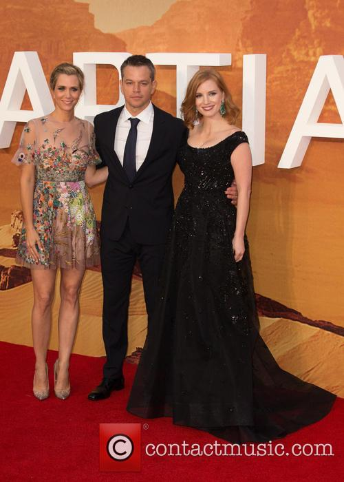 Kristen Wiig, Matt Damon and Jessica Chastain