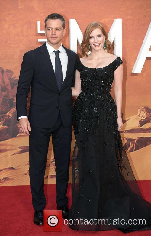 Matt Damon and Jessica Chastain 2