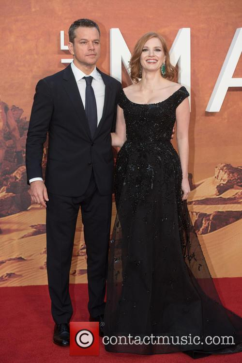 Matt Damon and Jessica Chastain 3