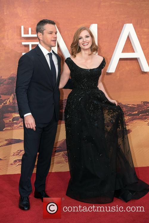 Matt Damon and Jessica Chastain 5