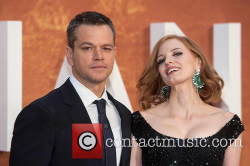 Matt Damon and Jessica Chastain 7
