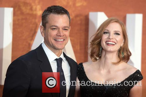 Matt Damon and Jessica Chastain 8