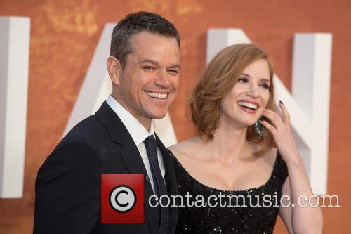 Matt Damon and Jessica Chastain 9